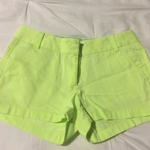 """J. Crew Chino Shorts 3"""" in Lime Green"""